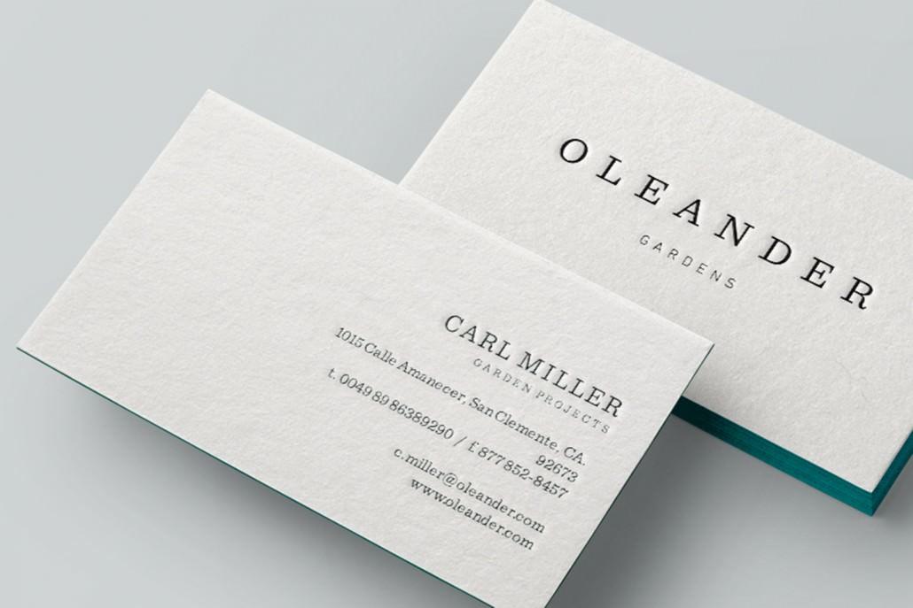 Wir erstellen Ihre individuelle Visitenkarte mit schönem Farbschnitt